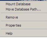 Mount database