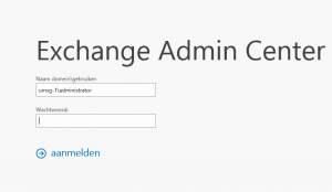 Exchange 2013: EAC login